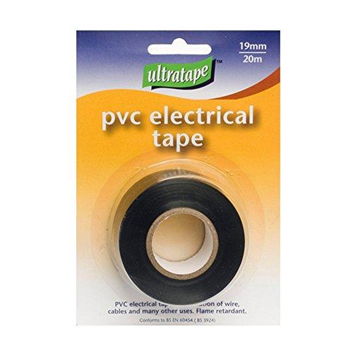 Ultratape 19mm X 20m Electrics PVC Black Tape Roll
