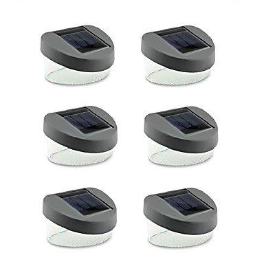 GANTA ® 6pcs 2led Solarlampe Raum Split-Typ Solarlicht im Freien Flurbeleuchtung Gartenbeleuchtung luminaria Solarpanel geführt