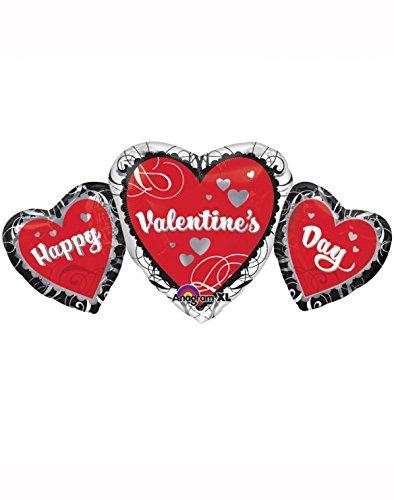 Amscan Super/Form: Happy Valentines Day Trio Ballon
