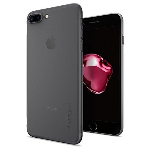 Spigen - Funda iphone 7 plus, [air skin] ultra fino [soft clear] premium sper ligero / ajuste exacto, funda apple iphone 7 plus (043cs20870)
