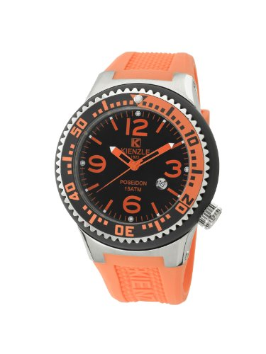 Kienzle - K2043153253-00272 - Montre Mixte - Quartz Analogique - Bracelet Silicone Orange
