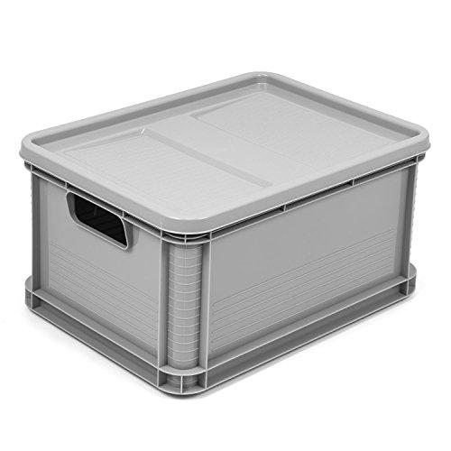 mit Deckel Euro Box Stapelbox Transportbox geschlossen Obstbox ()