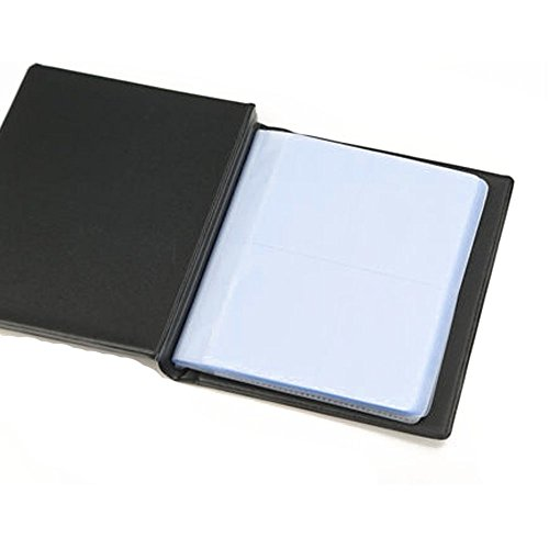 Ardisle 200 Porta biglietti da carta di nome Libro nero Portafoglio Caso Copertina Pouch cartella di file - Cartella Pouch