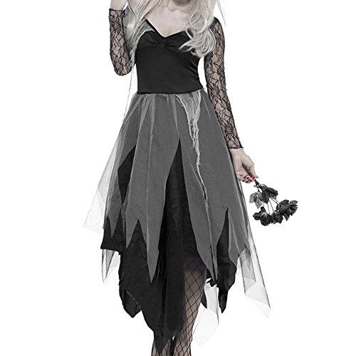 Enjoygoeu Halloween Kostüm Geisterbraut Zombie Zombiebraut Horror Braut -