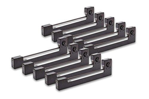 vhbw 10x Farbband Nylonband Tintenband für Nadeldrucker Melag MELAprint 40, MELAprint 42 wie Epson ERC-09, Epson C43S015354, ERC-09B.