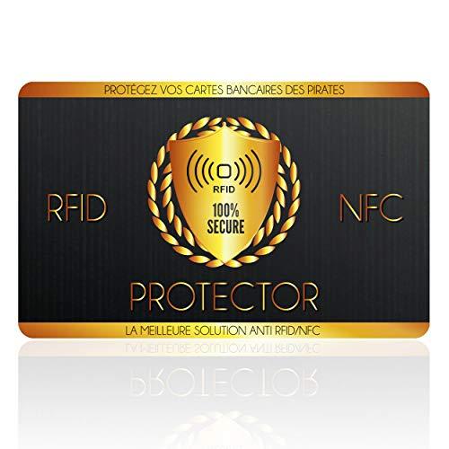 Protection Carte Bancaire, Carte Anti RFID, Plus d'Etui Carte Bancaire Anti Piratage, Blocker à Ondes Protege, Sécurise Votre Portefeuille, Protection Carte Bleue sans Contact, Ebook Offert