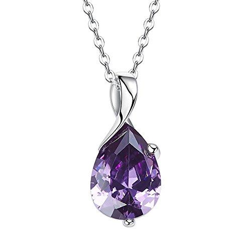Haixin Collier en zirconium fashion simple personnalité S925 argent cristal
