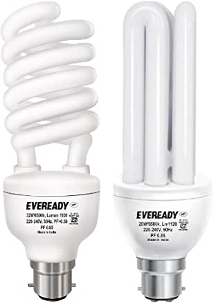 Eveready 32 and 20-Watt Combo CFL (White and Pack of 2)