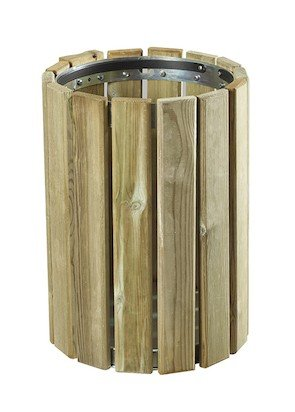 ROSSIGNOL EDEN WOOD DUSTBIN 20L FOR WALL OR POLE MOUNTING