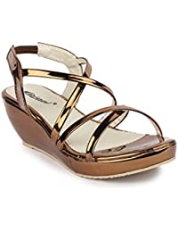 DIGNI Casual Comfortable Western Heel Open Toe Sandal For Women || Cutout Open Peep Toe High Platform Summer Wedge...