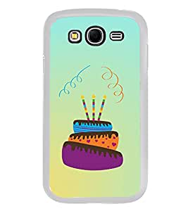 Happy Birthday Cake 2D Hard Polycarbonate Designer Back Case Cover for Samsung Galaxy Grand 2 :: Samsung Galaxy Grand 2 G7105 :: Samsung Galaxy Grand 2 G7102