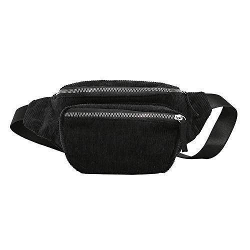 Everpert Damen Gürteltasche Bauchtasche,Vintage Cord Hüfttasche Frauen Mädchen Pouch Gürtel Brust Taschen Messenger Schulter Handtaschen -