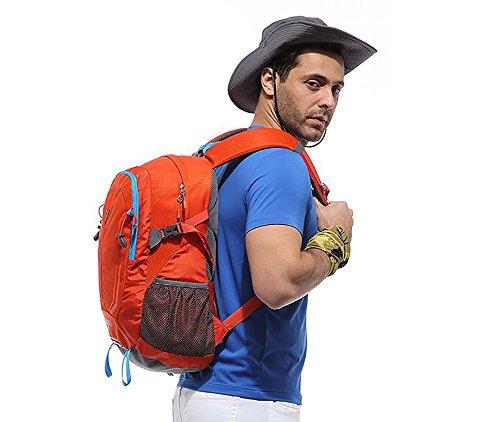 HWLXBB Outdoor Bergsteigen Paket Männer und Frauen 32L Wasserdichte Mehrzweck-Bergsteigen Tasche Wandern Camping Bergsteigen Rucksack 4*