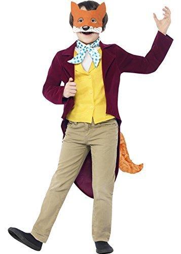 Kinder Größe Jungen Roald Dahl Fantastic Mr Fox Kostüm Large (10-12Jahre) (Mr Fantastic Fox Kostüm)