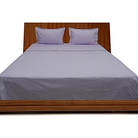 royallinens Georgeous de 600hilos 4piezas cama de agua bolsillo hoja diseño de rayas (tamaño: 21cm), algodón, Lilac Stripe, UK Double