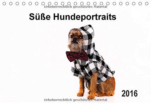 Süße Hundeportraits (Tischkalender 2016 DIN A5 quer): Fotokalender von verkleideten süßen Hunden (Monatskalender, 14 Seiten) (CALVENDO Tiere)