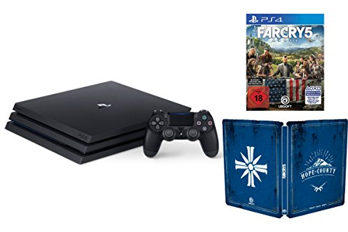 PlayStation 4 Pro Konsole (1TB, B-Chassis) + Far Cry 5 - Steelbook Edition (Playstation Far Cry 4)