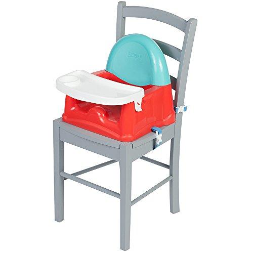 Safety 1st Easy Care Rialza Sedia per Bambini per Sedia da Tavolo, con Vassoio Incluso, Colore Red Lines
