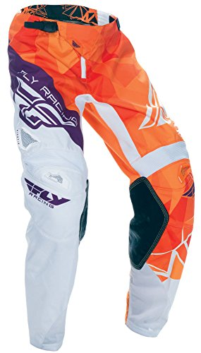Fly Racing Kinetic Motocross Hose Kids Crux, orange-burgund, Größe: 18, MX Kinder Pant MTB Mountainbike BMX