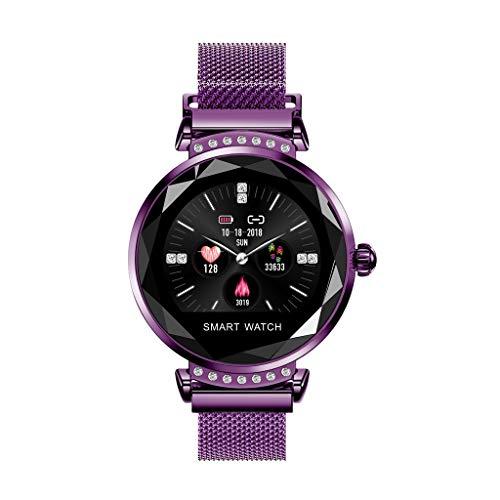 BHYDRY H2 Valentinstag Geschenk Frauen Blutdruck Sport Smart Armband Uhr Schrittzähler(1*pc,Lila)
