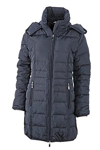 James & Nicholson Daunenjacke Ladies Winter Down Coat - Blouson Femme, Bleu (Navy) - Small (Taille fabricant: