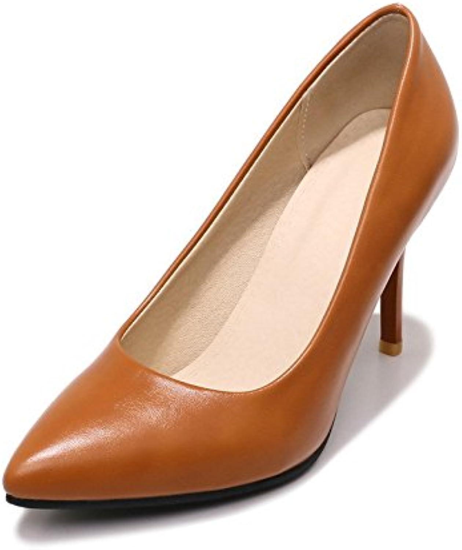 Con la ultra-ligero y el tamaño de la punta de la boquilla, singles femeninos zapatos ,marrón oscuro,42