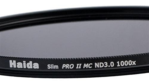 Haida Slim Graufilter PRO II MC (mehrschichtvergütet) ND1000x 46 mm - Schlanke Fassung + Cap mit...