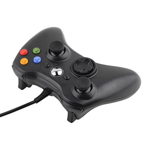 Microsoft Xbox 360 Controlador de Gamepad, LESHP Mando para PC (Windows XP/7/8/10), Android (TV box / smartphone / tablet) y PS3, negro
