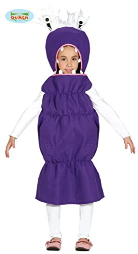 Wurm Monster Halloween Kostüm für Kinder Tier Kinderkostüm Tierkostüm Halloweenkostüm lila Gr. 98 - 116, (Wurm Kostüme)