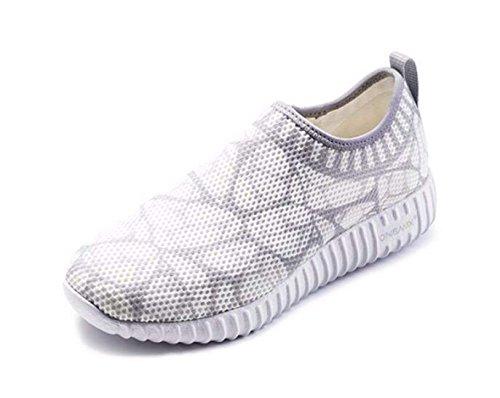 onemix Damen Laufschuhe Light Air Sneaker mit Luftpolster Sportschuhe Roshe Run Laufschuhe Cross Trainer Outdoor Fitnessschuhe Traillaufschuhe - Silber 39