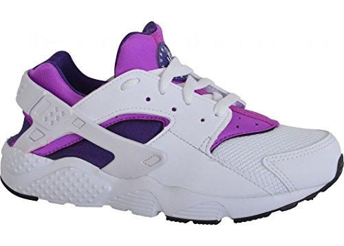 Nike Baby Jungen Huarache Run (Ps) Sneakers Weiß (Blanco (White / White-Hypr Vlt-Crt Prpl))