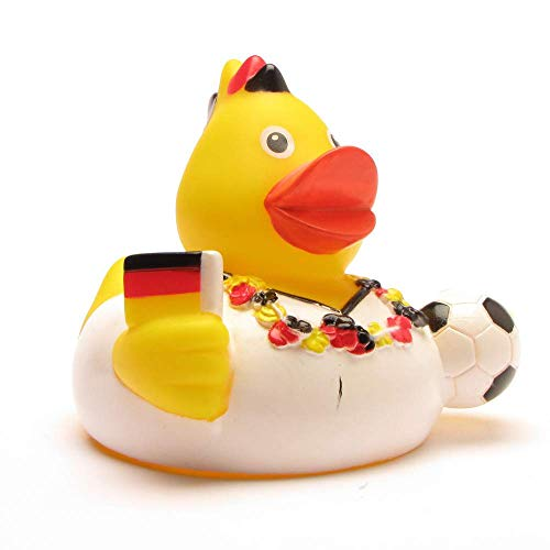 DUCKSHOP I Badeente Deutschland Fan I Quietscheente I L: 7,5 cm
