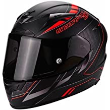 Scorpion Casco Moto exo-2000 Evo Air Cup, Black/Chameleon/Fluo Red