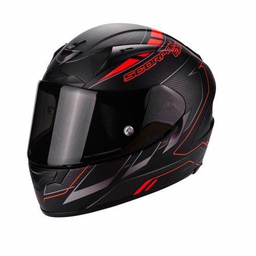 Scorpion Casco Moto EXO-2000 EVO AIR Cup, Black/Chameleon/Fluo Red, M