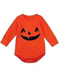 Covermason Bebé Unisex Lindo Halloween Calabaza Impresión Mono Bodies