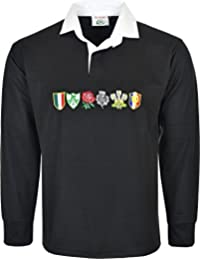 Men 6 Nation Full Sleeve Rugby Fan Shirts Size S to 5XL