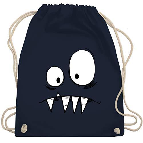 Karneval & Fasching Kinder - Monster Kostüm - Unisize - Navy Blau - WM110 - Turnbeutel & Gym - Monster Uni Kostüm