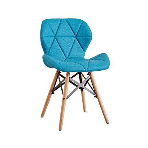 H&Y HY Kreative Computer Stuhl einfache Studie Home Makeup Hocker zurück Nordic (Farbe : Dunkelblau, größe : L50CMXW38CMXH73CM)