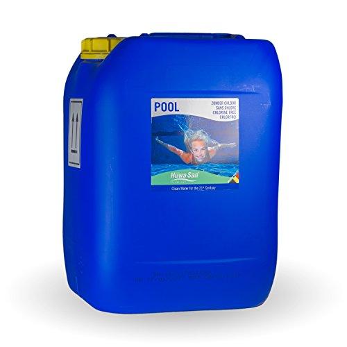 Huwa-San POOL chlorfreie Pool-Desinfektion und Wasserpflege (Wasserstoffperoxid-Basis 11,9 %, 20L bis 150m³)