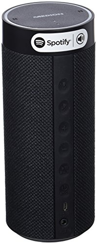Medion Life P61110 MD 43631 Tragbarer WLAN Lautsprecher (mit Amazon Alexa, Smart Home, Fernfeld-Spracherkennung, Multiroom, Bluetooth, Steuerung per App, Integrierter Akku) Schwarz