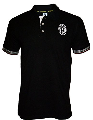 polo-juve-juventus-official-collection-mens-hooded-fleece-sweatshirt-adult-mens-size-mens-black-s