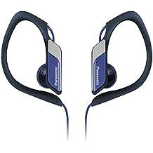 Panasonic RP-HS34E-A - Auriculares de clip (3.5 mm), negro y azul