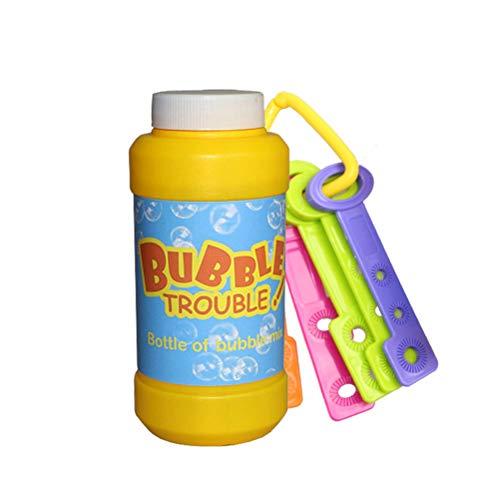 TOYANDONA Kinder Blase Spielzeug Blase Zauberstäbe Set mit Blase Flüssigkeit Flasche für Kinder Geburtstag Hochzeit Gefälligkeiten Bad Spielzeug Sommer Outdoor Spielzeug (zufällige Farbe) (Hochzeit Gefälligkeiten Blasen)