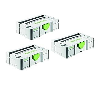 Festool Mini Systainer - T-LOC SYS MINI TL Stapelbox - Werkzeugkoffer - Nr. 499622-3 Stück