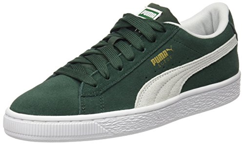 Puma Suede Classic Jr, Zapatillas Unisex Niños, Verde (Pineneedle White), 39 EU
