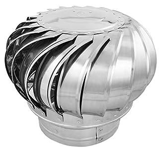 PrimeMatik KH043-VCES Sombrero Extractor de Humos galvanizado Giratorio para Tubo de 250 mm de diámetro
