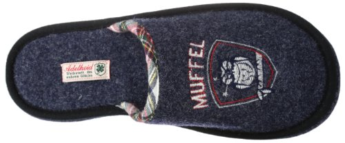 Adelheid Morgenmuffel Herren Pantoffeln Blau (steinblau / 225)