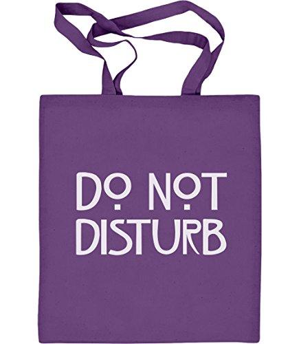 s Do not Disturb - Geschenk für Serienfans Jutebeutel Baumwolltasche One Size Violett ()