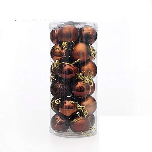Multi Color Christmas Tree (Yao 24PCS/Set Christmas Tree Ornament Multi-Color Christmas Ball Plastic Gift Ball Coffee)