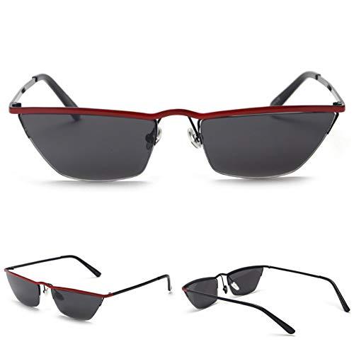 MINGMOU Neue Kleine Schmale Sonnenbrille FrauenRetro Cat Eye Half FrameSonnenbrilleFür Frauen Männliche Geschenk Uv400 Metall Hohe Qualität